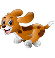 cartoon little dog running vector image