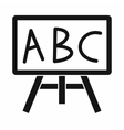 Chalkboard with the leters ABC icon simple style vector image vector image