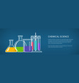 chemical laboratory equipment banner vector image vector image