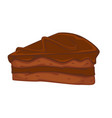 chocolate cake isolated dish biscuit layer and vector image