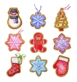 Christmas gingerbread cookies vector image