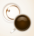 Coffee with Coaster paper vector image vector image
