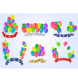 Colorful balloons with ribbons vector image vector image