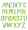 colorful english alphabet letters vector image vector image