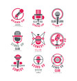 comedy club stand up show logo design set vector image vector image