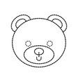 cute bear teddy face toy gift vector image