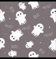 cute ghost halloween seamless pattern with boo vector image vector image