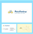cycle logo design with tagline front and back vector image vector image