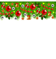 Decorated Christmas tree branches isolated vector image vector image