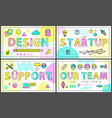 design and our team collection vector image vector image