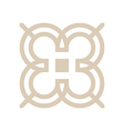 design number 3 arrow brown icon symbol vector image vector image