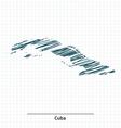 Doodle sketch of Cuba map vector image vector image