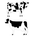 farm animals cow vector image