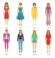 Fashion Evolution Icons Set vector image vector image