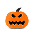 flat halloween pumpkin on the white background vector image vector image
