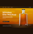 glass whiskey bottle site template vector image