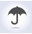 Gray color umbrella simple icon vector image vector image