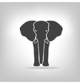 gray emblem of an elephant on a light background vector image vector image