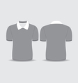 gray polo t shirt vector image vector image