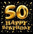 happy birthday 50th celebration gold balloons