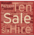 Hire A Six text background wordcloud concept vector image vector image