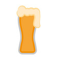 isolated beer glass icon vector image vector image
