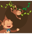 jungle monkeys cartoon vector image vector image