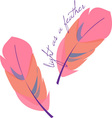 Light as a Feather vector image vector image