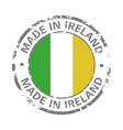 made in ireland flag grunge icon vector image vector image