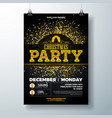 merry christmas party poster design template vector image