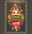 mexico festival cinco de mayo poster mexican vector image vector image
