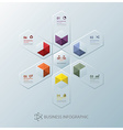 Modern Fusion Hexagon Business Infographic Design vector image vector image