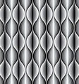 monochrome geometric wavy lined seamless pattern vector image vector image