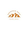 mountain outdoor adventure vector image