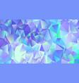 pastel blue crystal low poly backdrop design vector image vector image
