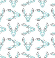 Pattern background with the deer Seamless vector image vector image