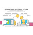 people sending and receiving money vector image