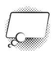 pop art speech bubble banner halftone style vector image vector image