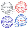 postmarks collection ink stamps vector image vector image