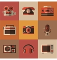 Radio photo phone microphone in one picture vector image vector image