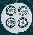 retro grunge badges vector image vector image