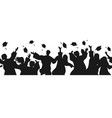 seamless border with graduate students in vector image