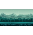 Seamless cartoon nature landscape with 2d game vector image vector image