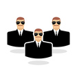 Security man Icon guard Bodyguards Man in vector image vector image