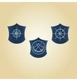 set maritime symbols vector image vector image