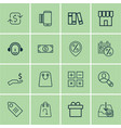 set of 16 ecommerce icons includes shop present vector image vector image