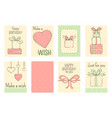 set of birthday banners in naive hand drawn style vector image