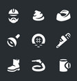 set plumber icons vector image