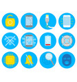 set with repair smartphone icons vector image vector image