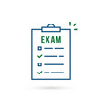 simple thin line examination list icon vector image